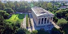 Пролетая над храмом Гефеста: красивое видео, снятое с помощью дрона (видео)