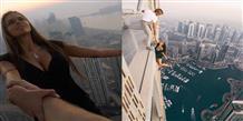 Русская модель повисла на небоскребе в Дубае и сделала рекламу Греции (фото, видео)