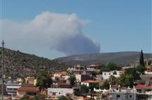 Срочно! Мощный пожар на острове Эвия (видео, фото)
