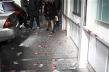 СМИ: неизвестные облили краской стены министерства экономики и развития Греции (видео)