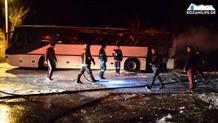 В Греции загорелся туристический автобус (видео)