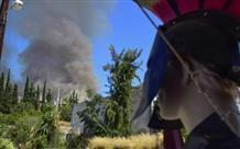 История в огне: шокирующие изображения пожара в Микенах (фото)