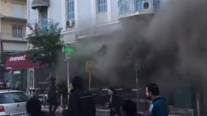 Вцентре Афин произошел взрыв - один человек умер