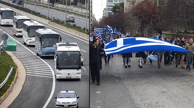 ВГреции тысячи вышли наакцию против наименования соседней страны